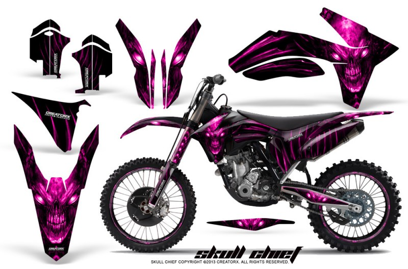 KTM-C7-2011-CreatorX-Graphics-Kit-Skull-Chief-Pink-NP-Rims