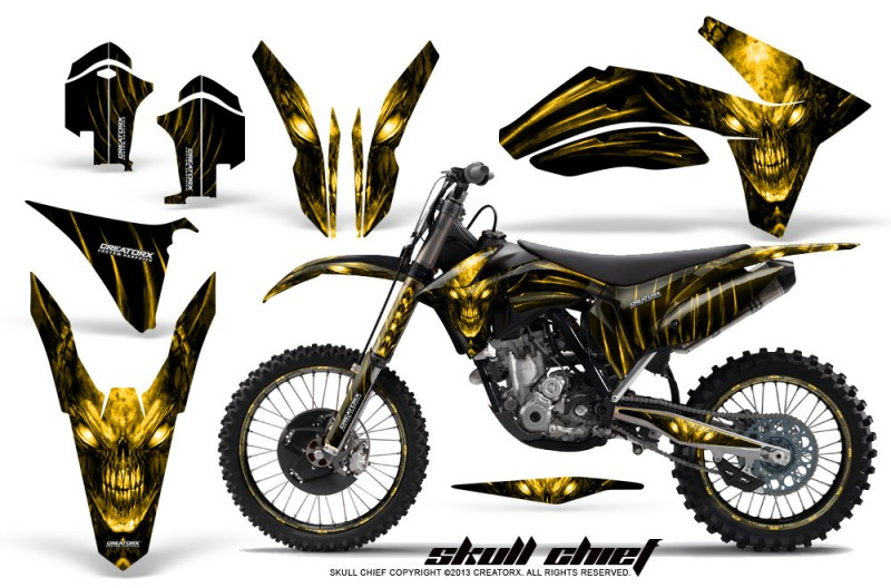 KTM-C7-2011-CreatorX-Graphics-Kit-Skull-Chief-Yellow-NP-Rims