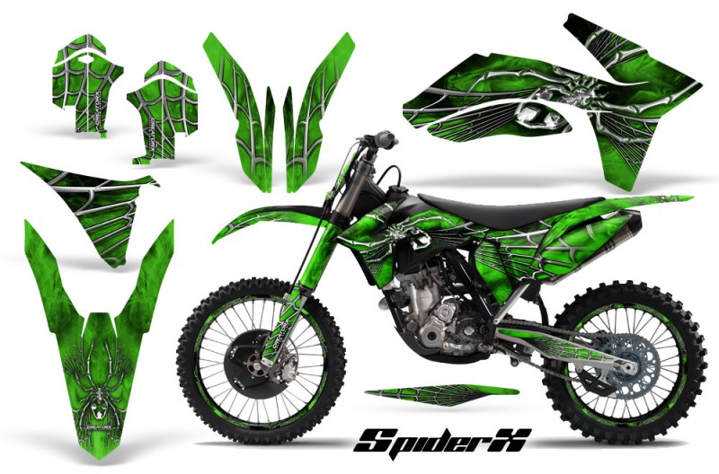 KTM-C7-2011-CreatorX-Graphics-Kit-SpiderX-Green-BB-NP-Rims