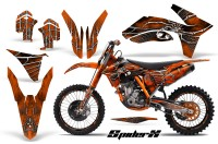 KTM-C7-2011-CreatorX-Graphics-Kit-SpiderX-Orange-OB-NP-Rims