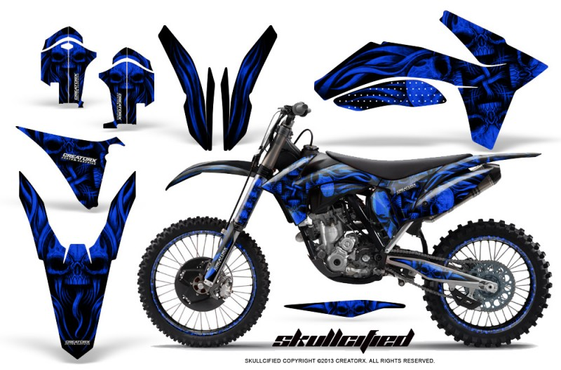 KTM-C7-2011-SX-F-CreatorX-Graphics-Kit-Skullcified-Blue-NP-Rims