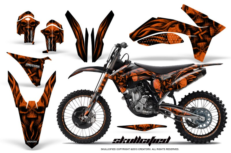 KTM-C7-2011-SX-F-CreatorX-Graphics-Kit-Skullcified-Orange-BB-NP-Rims