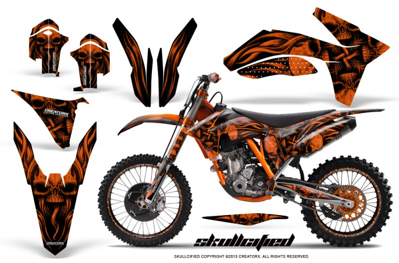 KTM-C7-2011-SX-F-CreatorX-Graphics-Kit-Skullcified-Orange-NP-Rims