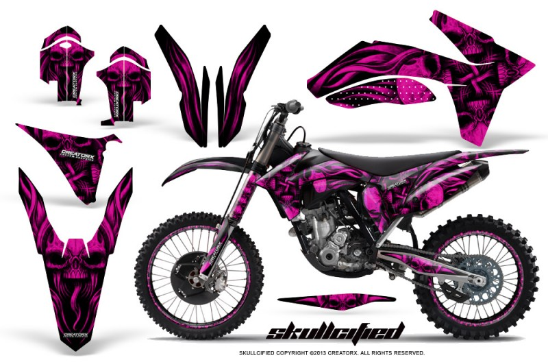 KTM-C7-2011-SX-F-CreatorX-Graphics-Kit-Skullcified-Pink-NP-Rims