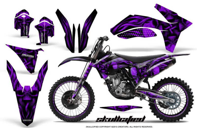KTM-C7-2011-SX-F-CreatorX-Graphics-Kit-Skullcified-Purple-NP-Rims