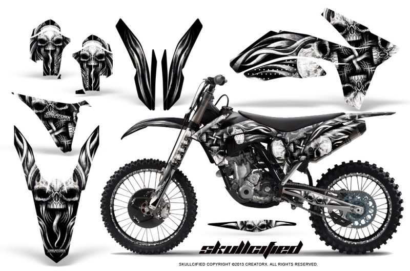 KTM-C7-2011-SX-F-CreatorX-Graphics-Kit-Skullcified-Silver-NP-Rims