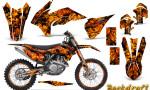 KTM C9 SX F450 2013 CreatorX Graphics Kit Backdraft Orange NP Rims 150x90 - KTM C9 SX SX-F XC XC-F 13-14 - EXC 14-15 - XC-W 14-16 - SX XCF-W EXC EXC-F 2016 Graphics