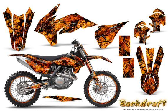 KTM-C9-SX-F450-2013-CreatorX-Graphics-Kit-Backdraft-Orange-NP-Rims