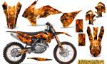 KTM C9 SX F450 2013 CreatorX Graphics Kit Inferno Orange NP Rims 150x90 - KTM C9 SX SX-F XC XC-F 13-14 - EXC 14-15 - XC-W 14-16 - SX XCF-W EXC EXC-F 2016 Graphics