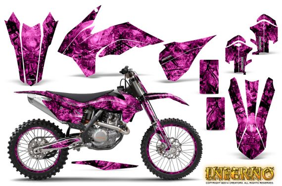 KTM-C9-SX-F450-2013-CreatorX-Graphics-Kit-Inferno-Pink-NP-Rims