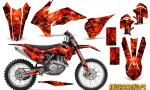 KTM C9 SX F450 2013 CreatorX Graphics Kit Inferno Red NP Rims 150x90 - KTM C9 SX SX-F XC XC-F 13-14 - EXC 14-15 - XC-W 14-16 - SX XCF-W EXC EXC-F 2016 Graphics