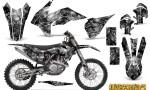 KTM C9 SX F450 2013 CreatorX Graphics Kit Inferno Silver NP Rims 150x90 - KTM C9 SX SX-F XC XC-F 13-14 - EXC 14-15 - XC-W 14-16 - SX XCF-W EXC EXC-F 2016 Graphics