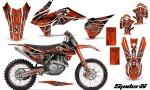 KTM C9 SX F450 2013 CreatorX Graphics Kit SpiderX Orange NP Rims 150x90 - KTM C9 SX SX-F XC XC-F 13-14 - EXC 14-15 - XC-W 14-16 - SX XCF-W EXC EXC-F 2016 Graphics