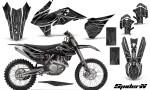 KTM C9 SX F450 2013 CreatorX Graphics Kit SpiderX Silver NP Rims 150x90 - KTM C9 SX SX-F XC XC-F 13-14 - EXC 14-15 - XC-W 14-16 - SX XCF-W EXC EXC-F 2016 Graphics