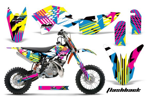 KTM SX50 09 12 AMR Graphics Kit Decal Flashback 570x376 - KTM SX 50 Adventurer Jr Sr 2009-2015 Graphics