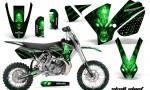 KTM SX65 02 08 CreatorX Graphics Kit Skull Chief Green NP Rims 150x90 - KTM SX 65 2002-2008 Graphics