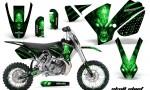 KTM SX65 02 08 CreatorX Graphics Kit Skull Chief Green NP Rims WB 150x90 - KTM SX 65 2002-2008 Graphics