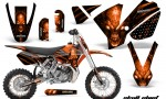 KTM SX65 02 08 CreatorX Graphics Kit Skull Chief Orange NP Rims 150x90 - KTM SX 65 2002-2008 Graphics
