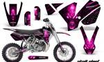 KTM SX65 02 08 CreatorX Graphics Kit Skull Chief Pink NP Rims 150x90 - KTM SX 65 2002-2008 Graphics