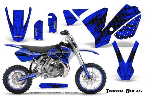 KTM SX65 02 08 CreatorX Graphics Kit Tribal Bolts Blue NP Rims 570x376 - KTM SX 65 2002-2008 Graphics