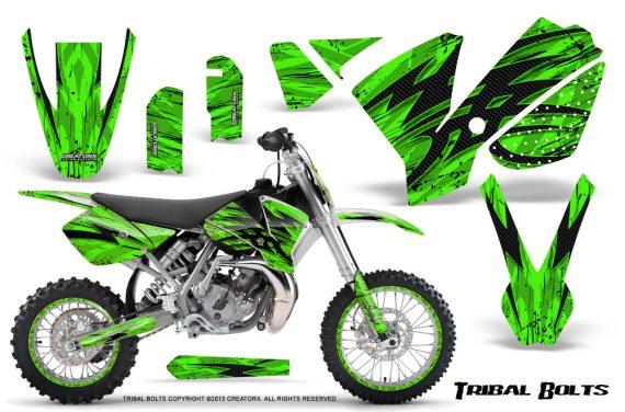 KTM SX65 02 08 CreatorX Graphics Kit Tribal Bolts Green NP Rims 570x376 - KTM SX 65 2002-2008 Graphics