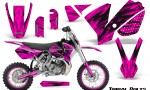 KTM SX65 02 08 CreatorX Graphics Kit Tribal Bolts Pink NP Rims 150x90 - KTM SX 65 2002-2008 Graphics