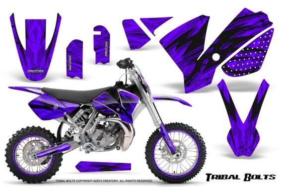 KTM SX65 02 08 CreatorX Graphics Kit Tribal Bolts Purple NP Rims 570x376 - KTM SX 65 2002-2008 Graphics