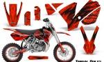 KTM SX65 02 08 CreatorX Graphics Kit Tribal Bolts Red NP Rims 150x90 - KTM SX 65 2002-2008 Graphics