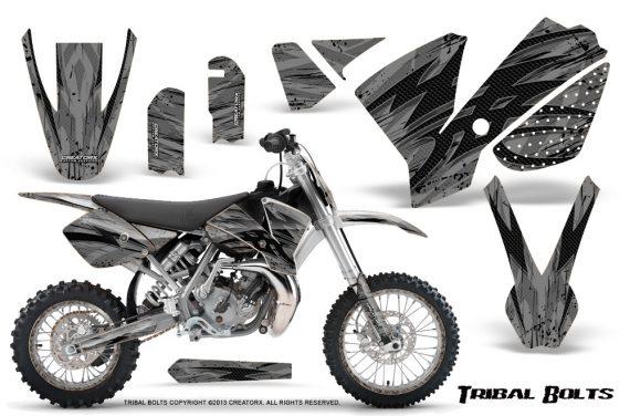KTM SX65 02 08 CreatorX Graphics Kit Tribal Bolts Silver NP Rims 570x376 - KTM SX 65 2002-2008 Graphics
