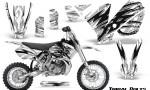 KTM SX65 02 08 CreatorX Graphics Kit Tribal Bolts White NP Rims 150x90 - KTM SX 65 2002-2008 Graphics