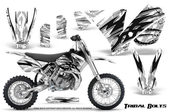 KTM SX65 02 08 CreatorX Graphics Kit Tribal Bolts White NP Rims 570x376 - KTM SX 65 2002-2008 Graphics