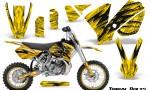 KTM SX65 02 08 CreatorX Graphics Kit Tribal Bolts Yellow NP Rims 150x90 - KTM SX 65 2002-2008 Graphics