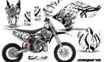 KTM SX65 09 12 CreatorX Graphics Kit Samurai Black White NP 150x90 - KTM SX 65 2009-2015 Graphics