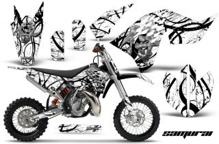 KTM SX65 09 12 CreatorX Graphics Kit Samurai Black White NP 320x211 - KTM SX 65 2009-2015 Graphics