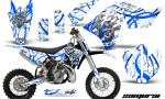 KTM SX65 09 12 CreatorX Graphics Kit Samurai Blue White NP 150x90 - KTM SX 65 2009-2015 Graphics