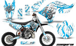 KTM SX65 09 12 CreatorX Graphics Kit Samurai BlueIce White NP 150x90 - KTM SX 65 2009-2015 Graphics
