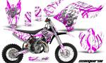 KTM SX65 09 12 CreatorX Graphics Kit Samurai Pink White NP 150x90 - KTM SX 65 2009-2015 Graphics