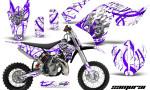 KTM SX65 09 12 CreatorX Graphics Kit Samurai Purple White NP 150x90 - KTM SX 65 2009-2015 Graphics