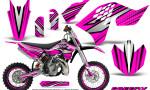 KTM SX65 09 12 CreatorX Graphics Kit SpeedX Black Pink NP Rims 150x90 - KTM SX 65 2009-2015 Graphics