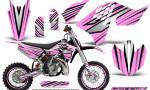 KTM SX65 09 12 CreatorX Graphics Kit SpeedX Black PinkLite NP Rims 150x90 - KTM SX 65 2009-2015 Graphics
