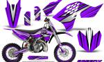 KTM SX65 09 12 CreatorX Graphics Kit SpeedX Black Purple NP Rims 150x90 - KTM SX 65 2009-2015 Graphics