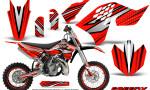 KTM SX65 09 12 CreatorX Graphics Kit SpeedX Black Red NP Rims 150x90 - KTM SX 65 2009-2015 Graphics