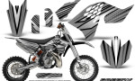 KTM SX65 09 12 CreatorX Graphics Kit SpeedX Black Silver NP Rims 150x90 - KTM SX 65 2009-2015 Graphics