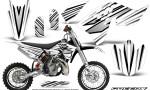 KTM SX65 09 12 CreatorX Graphics Kit SpeedX Black White NP Rims 150x90 - KTM SX 65 2009-2015 Graphics