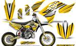 KTM SX65 09 12 CreatorX Graphics Kit SpeedX Black Yellow NP Rims 150x90 - KTM SX 65 2009-2015 Graphics