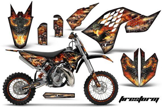 KTM SX65 2009 2014 AMR Graphics Kit Firestorm K NPs 570x376 - KTM SX 65 2009-2015 Graphics