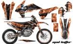KTM SXF 450 2013 AMR Graphics Kit Mad Hatter Orange Blackstripe NPs 150x90 - KTM C9 SX SX-F XC XC-F 13-14 - EXC 14-15 - XC-W 14-16 - SX XCF-W EXC EXC-F 2016 Graphics