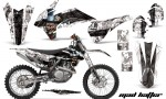KTM SXF 450 2013 AMR Graphics Kit Mad Hatter White Blackstripe NPs 150x90 - KTM C9 SX SX-F XC XC-F 13-14 - EXC 14-15 - XC-W 14-16 - SX XCF-W EXC EXC-F 2016 Graphics