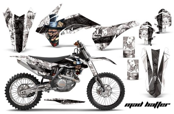 KTM SXF 450 2013 AMR Graphics Kit Mad Hatter White Blackstripe NPs 570x376 - KTM C9 SX SX-F XC XC-F 13-14 - EXC 14-15 - XC-W 14-16 - SX XCF-W EXC EXC-F 2016 Graphics