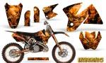 KTM C2 Graphics Kit Inferno Orange NP Rims 150x90 - KTM C2 SX 1998-2000 125-520 EXC Graphics